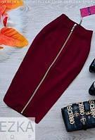 """Юбка """"Lu-boutique"""": большие размеры бордовый, 48"""