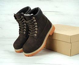 Женские зимние ботинки Timberland 6 inch Brown с натуральным мехом, фото 2