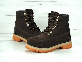 Женские зимние ботинки Timberland 6 inch Brown с натуральным мехом, фото 3
