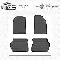 Mazda 2 2003-2007 гг. Резиновые коврики (4 шт, Stingray Premium)
