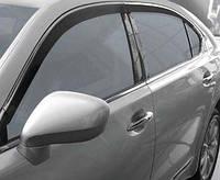 Lexus LS600H Ветровики с хромом (HIC, 2 шт)