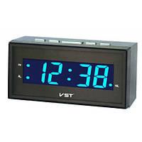Часы сетевые говорящие 772 Т-5 синее свечение