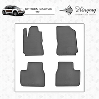 Citroen Cactus Резиновые коврики (4 шт, Stingray Premium)