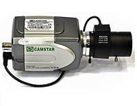 """Небольшая черно-белая видеокамера под объектив camstar 807, матрицы lg 1/3"""", крепеж cs, 420 твл, 0,01 люкс"""