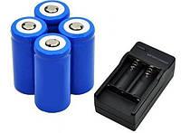 Аккумулятор 16340-1300mAh, синий