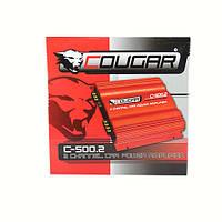 Фирменный усилитель Cougar CAR AMP 500.4 , усилитель звука, авто усилитель мощности звука, усилитель в машину