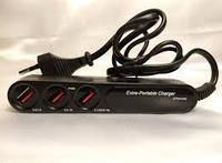 Сетевое зарядное устройство 220V на 3 USB 2.0 с кабелем 3003L
