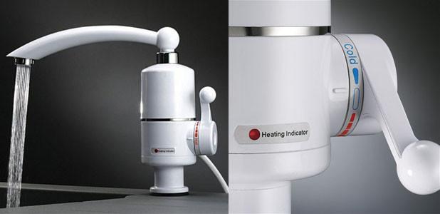 Проточный водонагреватель 3кВт Посейдон. Вертикальный нагреватель воды. мини бойлер