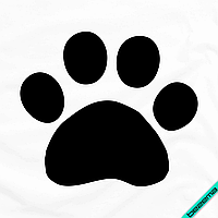 Аппликация, наклейка на ткань Лапка [7 размеров в ассортименте] (Тип материала Глянцевый)