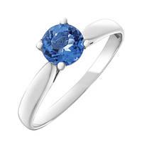 Серебряное кольцо Воздушный поцелуй с кварцем цвета танзанит 000055344