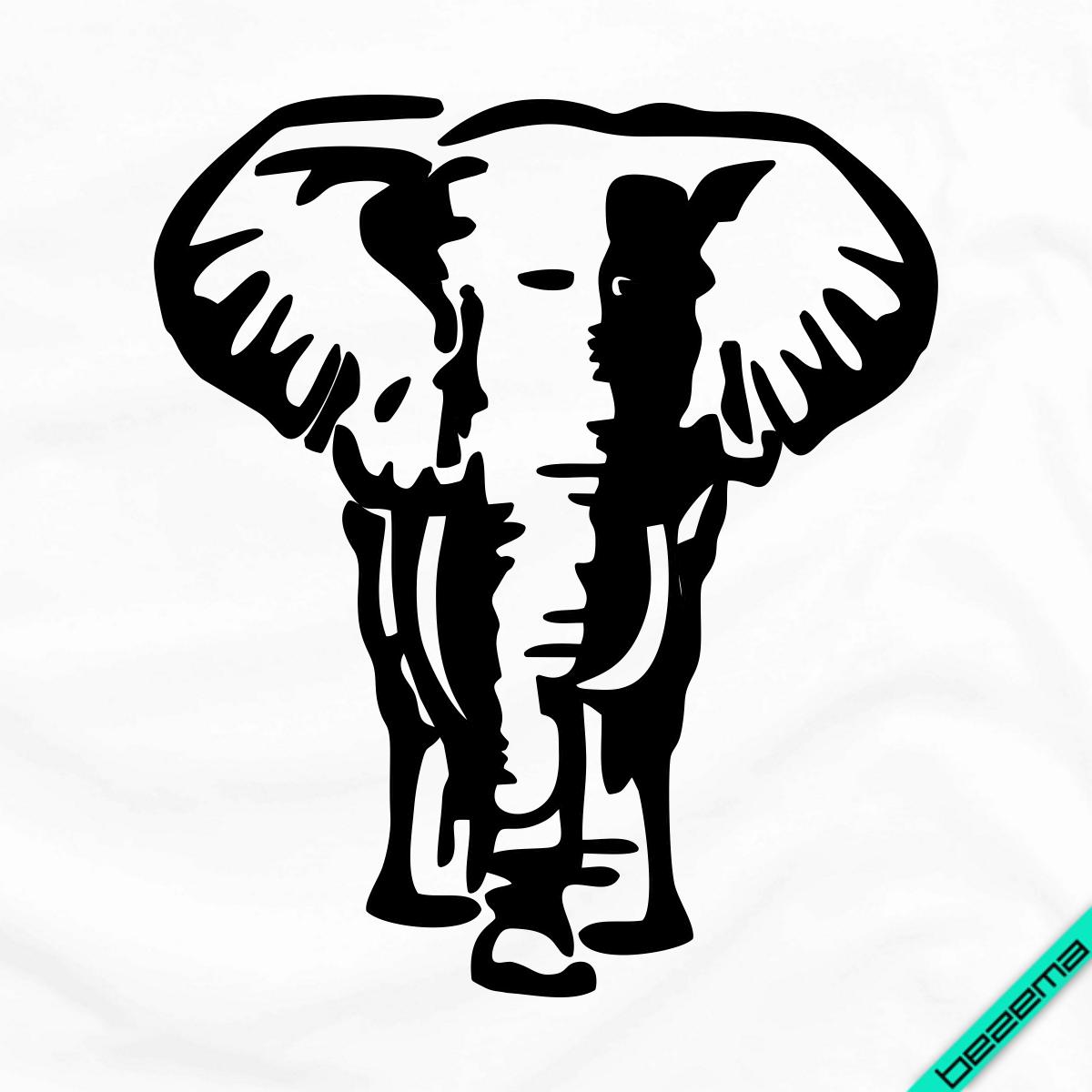 Апплика�ия наклейка на �кан� Слон 7 �азме�ов в