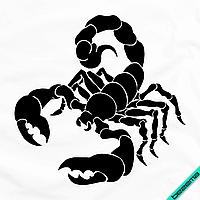 Термоперевод на головные уборы Скорпион [7 размеров в ассортименте] (Тип материала Матовый)