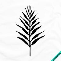 Термоперевод на пуловеры Листик [7 размеров в ассортименте] (Тип материала Матовый)