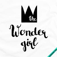 Аплпикации, латки на дубленки The wonder girl [7 размеров в ассортименте] (Тип материала Матовый)