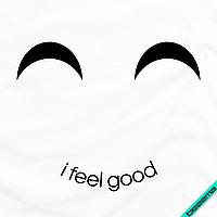 Термоперевод на джинсы Смайл I feel good [7 размеров в ассортименте] (Тип материала Матовый)