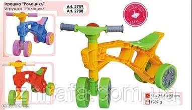 Каталка Ролоцикл четырехколесный 2759