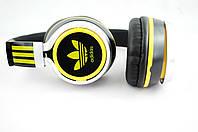 Наушники проводные ADIDAS (в коробке) черный\желтый