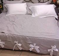 Льняное постельное белье 160х220 полуторное, фото 1