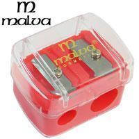 Malva - Точилка косметическая M-001 двойная (разные цвета) 1шт