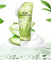 Успокаивающая пенка для умывания SeaNtree Aloe 100 Cleansing Foam