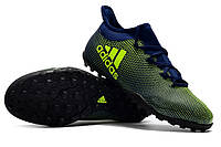 Футбольные сороконожки adidas X Tango 17.3 TF Core Black/Solar Yellow, фото 1