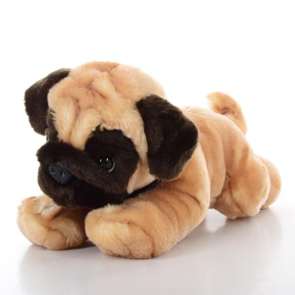 Мягкая игрушка SD5456 (12шт) собачка, мопс, 35см