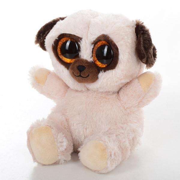 Мягкая игрушка SF0445 (24шт) собачка, мопс, 15см
