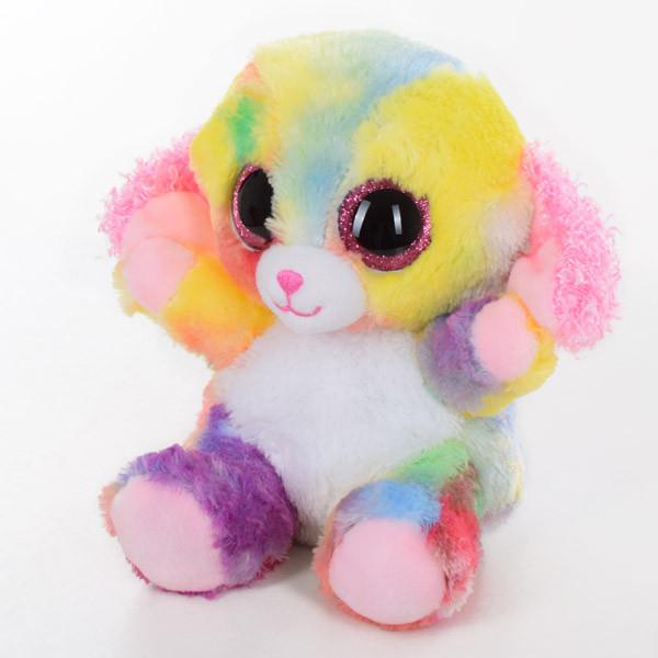Мягкая игрушка SF0446 (24шт) радужная собака, 15см