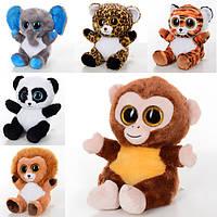 Мягкая игрушка SW0376 (24шт) дикие животные, 6видов, 25см