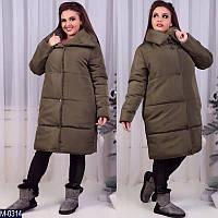 Женское пальто с большим воротничком (ботал)