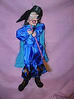 Баба-Яга декоративная статуэтка -  звуковая кукла 43 см. + шапка