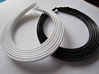 Обруч для волос 12 мм, упаковка 12 шт. (6 чёрных и 6 белых)