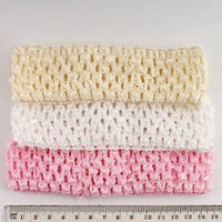 Повязка для волос трикотажная, ширина 4 см, нежно-розовая