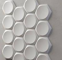 """Пластиковая форма для 3d панелей """"Сегмент"""" 19*17,5 x5 (форма для 3д панелей из абс пластика)"""