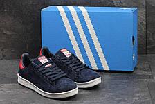 Кроссовки женскиеAdidas Stan Smith синие,замшевые, фото 2