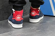 Кроссовки женскиеAdidas Stan Smith синие,замшевые, фото 3