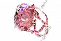 """Женский рюкзак с голографическим эффектом (розовый) 15x9x19 """"LP"""" купить оптом рюкзак"""