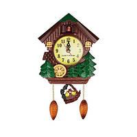 Настенные часы новогодние  с кукушкой в стиле ретро