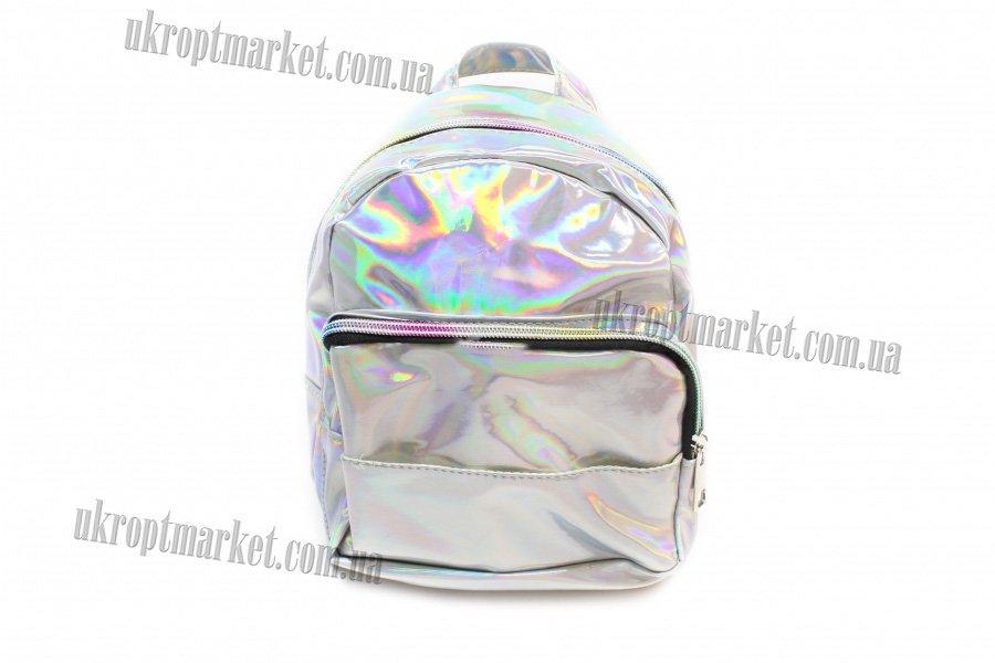 2f7779c51e53 Женский рюкзак с голографическим эффектом (серебро) 18x9x24
