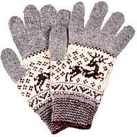 """Шерстяные перчатки женские """"Олень серый"""""""