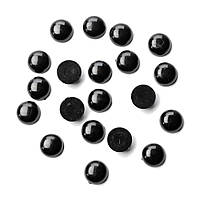 Глазки-полубусины для игрушек, Ø 14 мм, черные, 20 шт