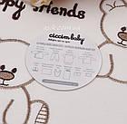 Трикотажный набор 10 предметов молочно-коричневого цвета, фото 2