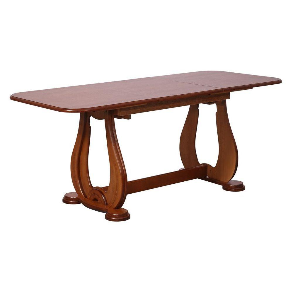 Стол обеденный раскладной Орешек-4Н 1300(1850)*790*750 орех темный