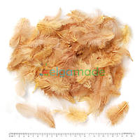 Перья натуральные кофейные с пухом, 5-12 см, 10-12 г