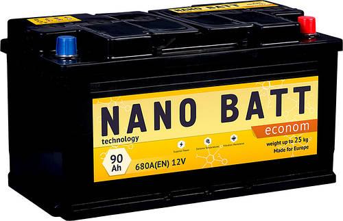 Аккумулятор NANO BATT  Econom - 90 +левый 680 пуск