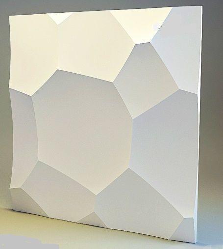 """Пластиковая форма для изготовления 3d панелей """"Ракушка"""" 50*50 (форма для 3д панелей из абс пластика)"""