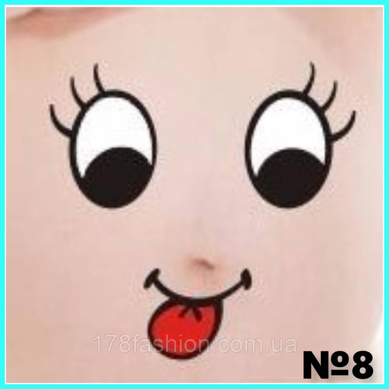 Забавная и креативная наклейка на беременный животик для фотосессии №8