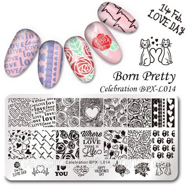 Пластина  для стемпинга Born Pretty BPL-X014