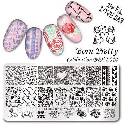 Пластина  для стемпинга Born Pretty BPL-X014  , фото 2