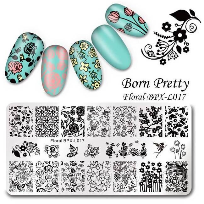 Пластина для стемпинга Born Pretty BPL-X017